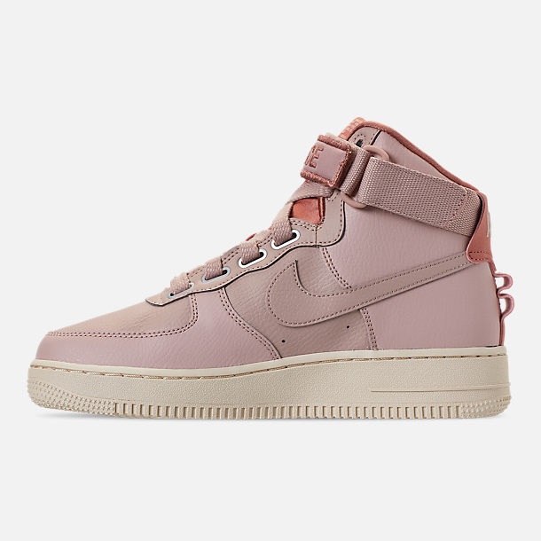 Left view of Women's Nike Air Force 1 High Utility Casual Shoes in Particle Beige/Particle Beige/Terra