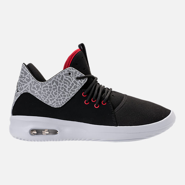 Right view of Men's Air Jordan First Class Off-Court Shoes in Black/Gym Red/White/Matte Silver