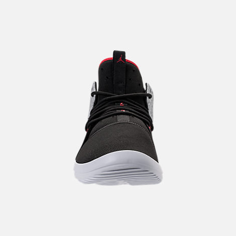 Front view of Men's Air Jordan First Class Off-Court Shoes in Black/Gym Red/White/Matte Silver