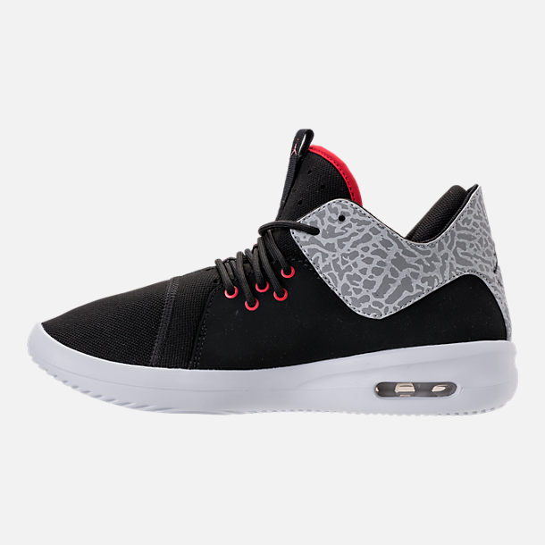 Left view of Men's Air Jordan First Class Off-Court Shoes in Black/Gym Red/White/Matte Silver