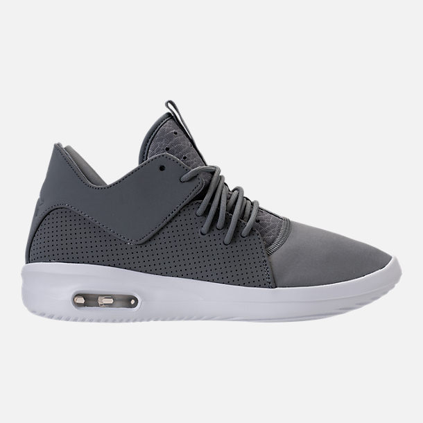 Right view of Men's Air Jordan First Class Off-Court Shoes in Cool Grey/White