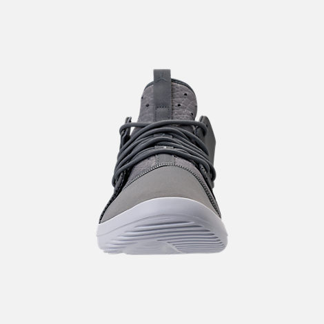 Front view of Men's Air Jordan First Class Off-Court Shoes in Cool Grey/White