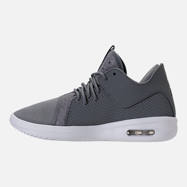 Left view of Men's Air Jordan First Class Off-Court Shoes in Cool Grey/White