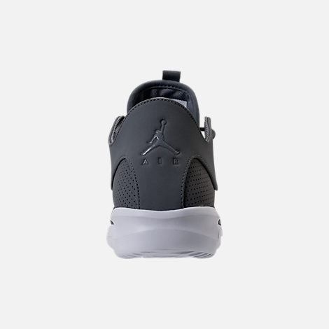 Back view of Men's Air Jordan First Class Off-Court Shoes in Cool Grey/White