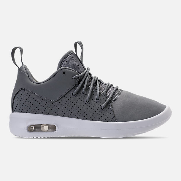 Right view of Boys' Preschool Air Jordan First Class Basketball Shoes in Cool Grey/Cool Grey