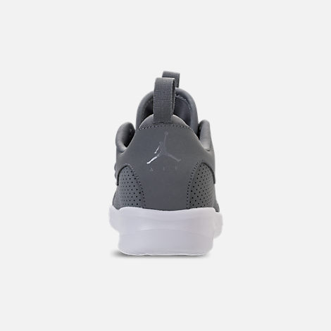 Back view of Boys' Preschool Air Jordan First Class Basketball Shoes in Cool Grey/Cool Grey