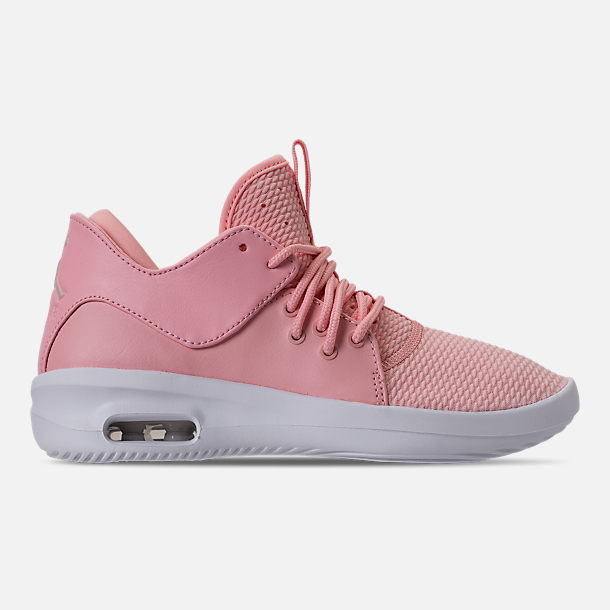 Right view of Girls' Grade School Air Jordan First Class (3.5y - 9.5y) Off-Court Shoes in Bleached Coral/Light Orewood Brown/White