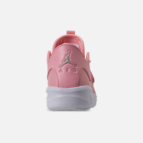Back view of Girls' Grade School Air Jordan First Class (3.5y - 9.5y) Off-Court Shoes in Bleached Coral/Light Orewood Brown/White
