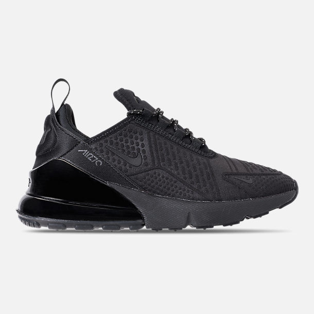 Right view of Big Kids' Nike Air Max 270 SE Casual Shoes in Black/Black/Black
