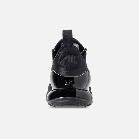 Back view of Big Kids' Nike Air Max 270 SE Casual Shoes in Black/Black/Black