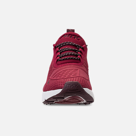 Front view of Big Kids' Nike Air Max 270 SE Casual Shoes in Team Red/Burgundy Crush/Burgundy