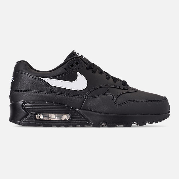 Right view of Men's Nike Air Max 90/1 Casual Shoes in Black/White