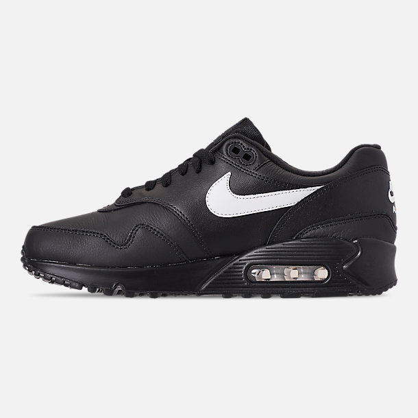 buy online 99b01 f0d40 Left view of Men s Nike Air Max 90 1 Casual Shoes in Black White
