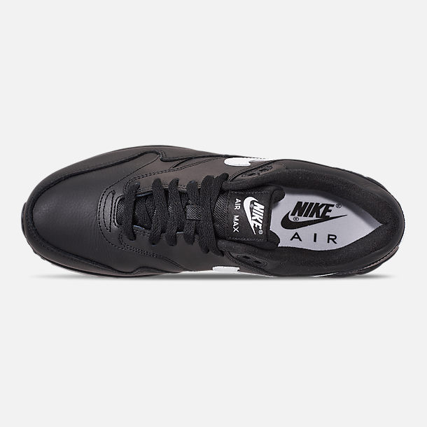 Top view of Men's Nike Air Max 90/1 Casual Shoes in Black/White