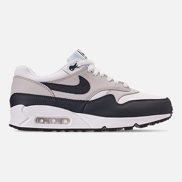 Right view of Men's Nike Air Max 90/1 Casual Shoes in White/Dark Obsidian/Neutral Grey