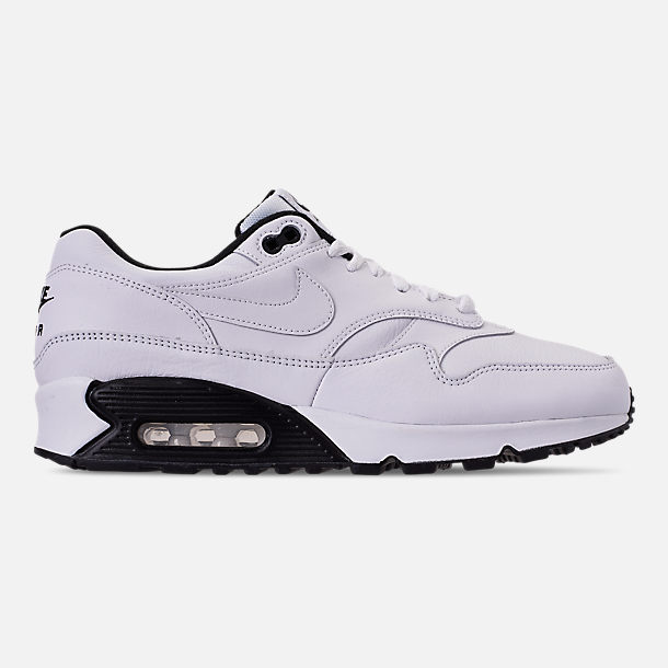 Right view of Men's Nike Air Max 90/1 Casual Shoes in White/Black