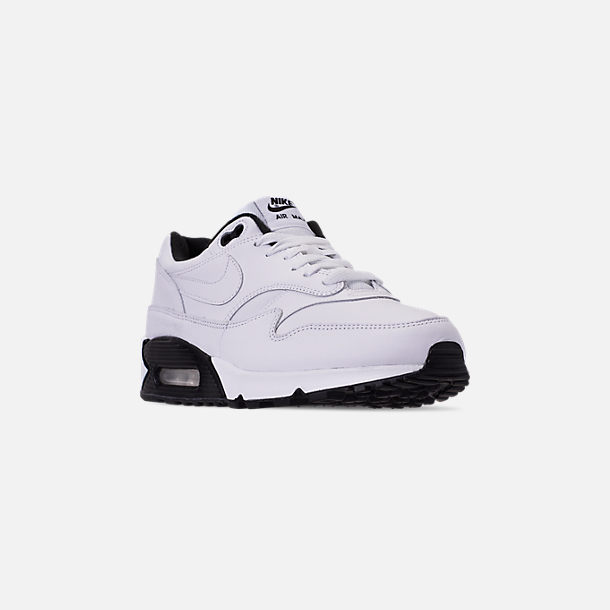 Three Quarter view of Men's Nike Air Max 90/1 Casual Shoes in White/Black