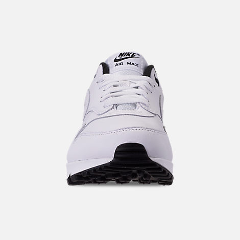 Front view of Men's Nike Air Max 90/1 Casual Shoes in White/Black