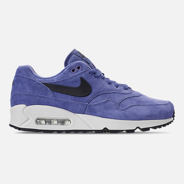 Right view of Men's Nike Air Max 90/1 Casual Shoes in Purple Basalt/Anthracite/Summit White