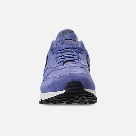Front view of Men's Nike Air Max 90/1 Casual Shoes in Purple Basalt/Anthracite/Summit White