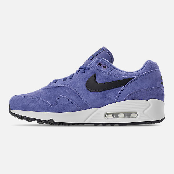 Left view of Men's Nike Air Max 90/1 Casual Shoes in Purple Basalt/Anthracite/Summit White
