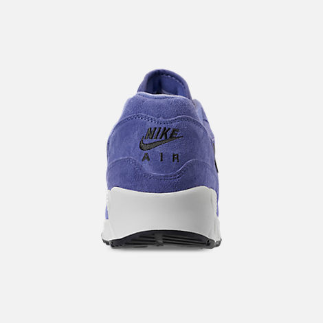 Back view of Men's Nike Air Max 90/1 Casual Shoes in Purple Basalt/Anthracite/Summit White