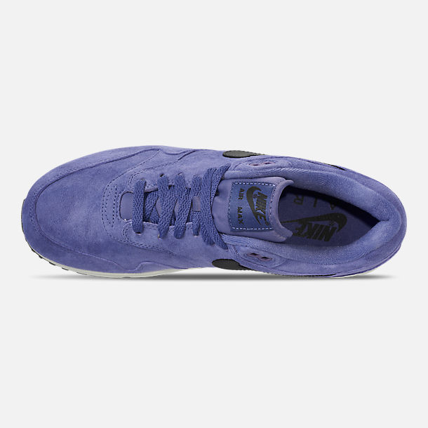 Top view of Men's Nike Air Max 90/1 Casual Shoes in Purple Basalt/Anthracite/Summit White