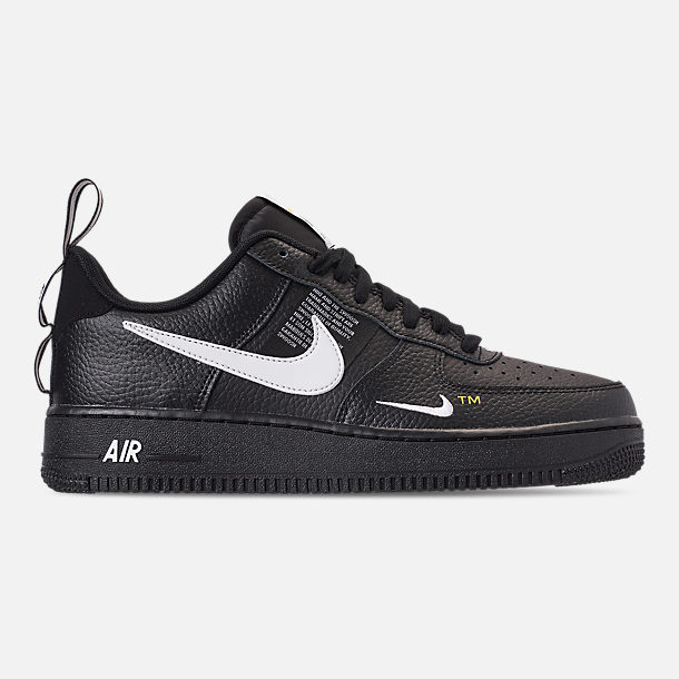 Right view of Men's Nike Air Force 1 '07 LV8 Utility Casual Shoes in Black