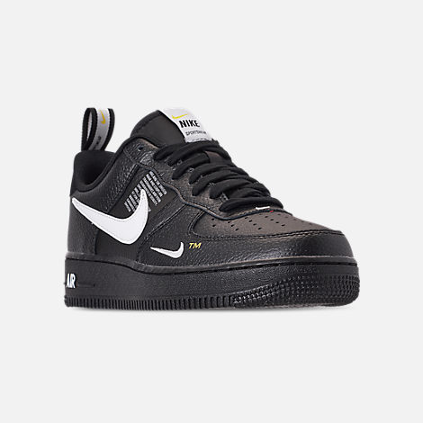 Three Quarter view of Men's Nike Air Force 1 '07 LV8 Utility Casual Shoes in