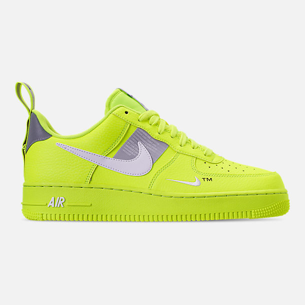 c82c54814 Right view of Men's Nike Air Force 1 '07 LV8 Utility Casual Shoes in Volt
