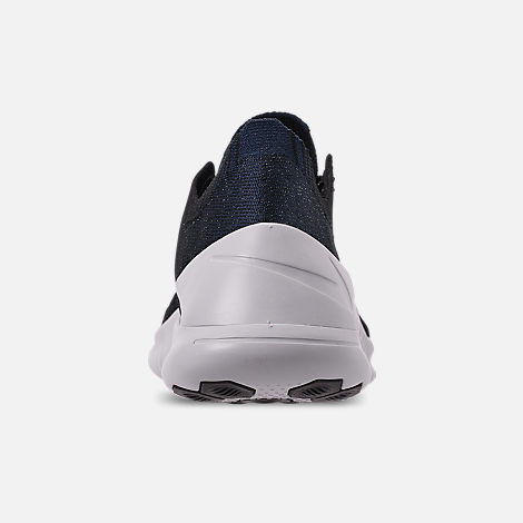 Back view of Women's Nike Free TR Flyknit 3 Training Shoes in College Navy/Pure Platinum/Black