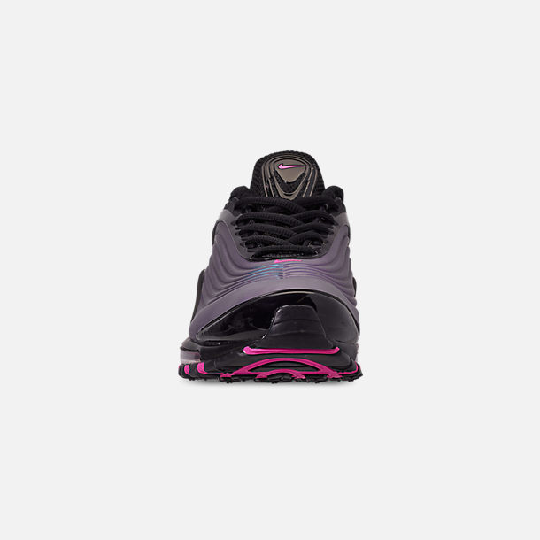 1cb8d5c8ffeb Front view of Men s Nike Air Max Deluxe Casual Shoes in Black Laser Fuchsia