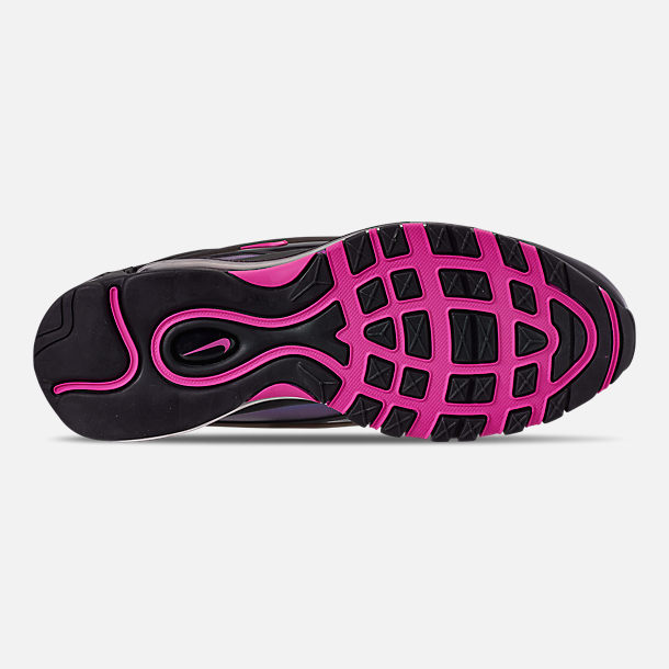 Bottom view of Men's Nike Air Max Deluxe Casual Shoes in Black/Laser Fuchsia