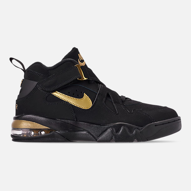 promo code 5c65e 762af Right view of Men s Nike Air Force Max CB Basketball Shoes in  Black Metallic Gold