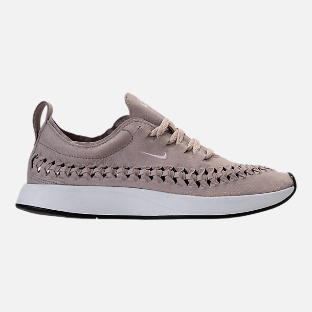 Right view of Women's Nike Dualtone Racer Woven Casual Shoes in Moon Particle/Moon Particle