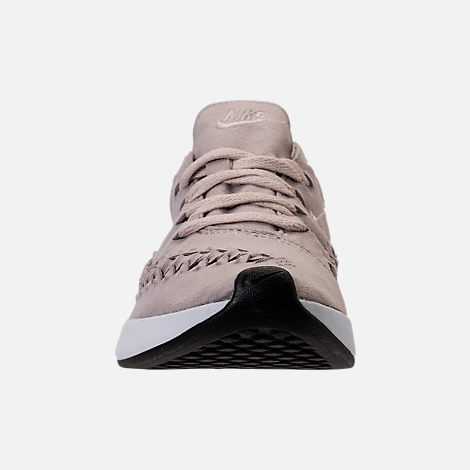Front view of Women's Nike Dualtone Racer Woven Casual Shoes in Moon Particle/Moon Particle