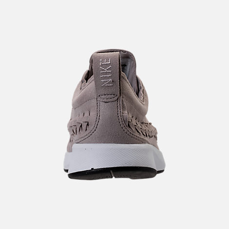 Back view of Women's Nike Dualtone Racer Woven Casual Shoes in Moon Particle/Moon Particle