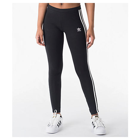 42ccbbe1278013 Adidas Originals Women'S Originals 3-Stripes Leggings, Black In Black/Energy  Pink