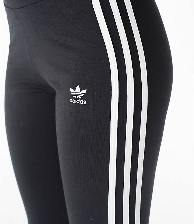 Detail 2 view of Women's adidas Originals 3-Stripes Leggings in Black/White
