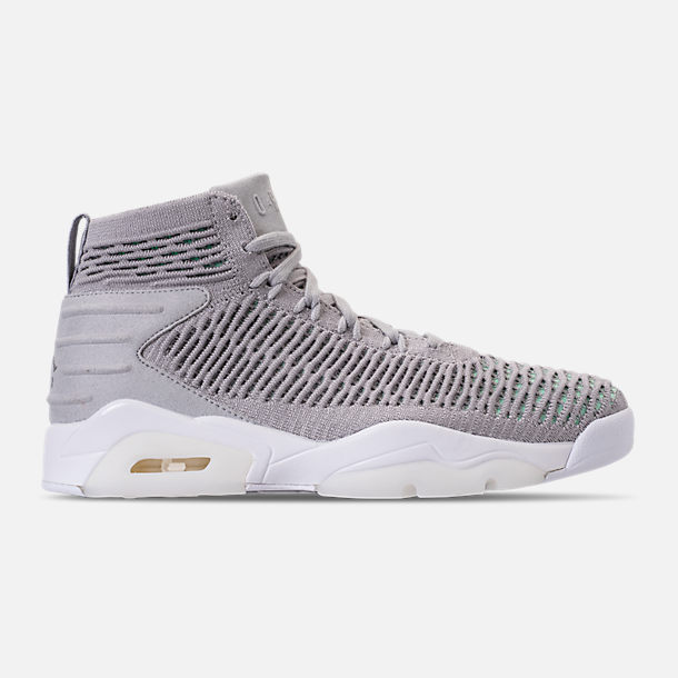 Right view of Men's Air Jordan Flyknit Elevation 23 Basketball Shoes in Atmosphere Grey