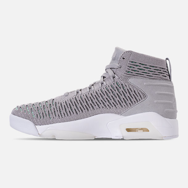 Left view of Men's Air Jordan Flyknit Elevation 23 Basketball Shoes in Atmosphere Grey
