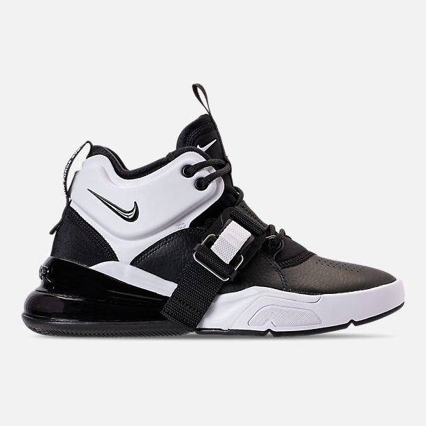 Right view of Big Kids Nike Air Force 270 Casual Shoes in BlackWhite