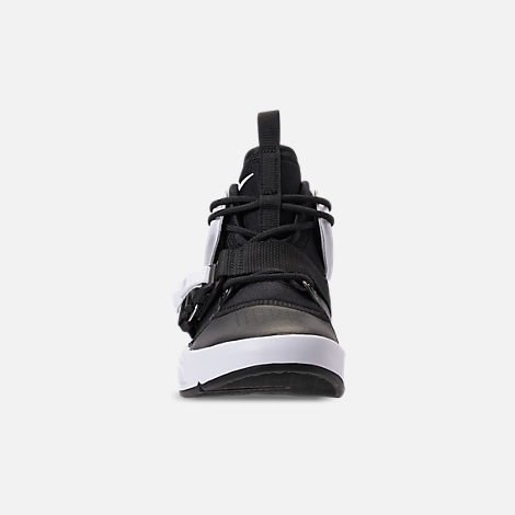 Front view of Big Kids' Nike Air Force 270 Casual Shoes in Black/White/Anthracite