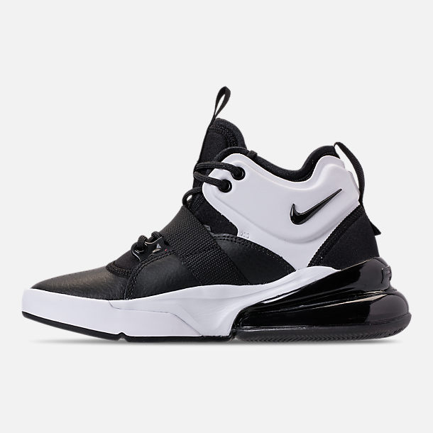 Left view of Big Kids' Nike Air Force 270 Casual Shoes in Black/White/Anthracite