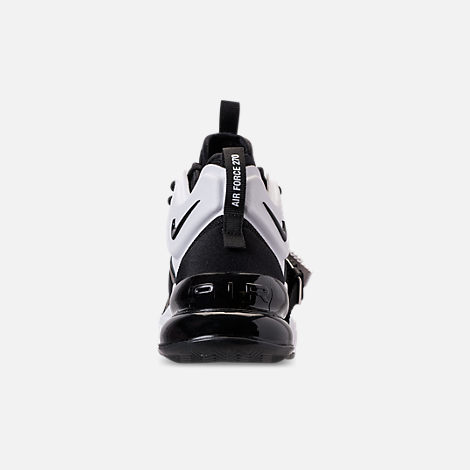 Back view of Big Kids' Nike Air Force 270 Casual Shoes in Black/White/Anthracite