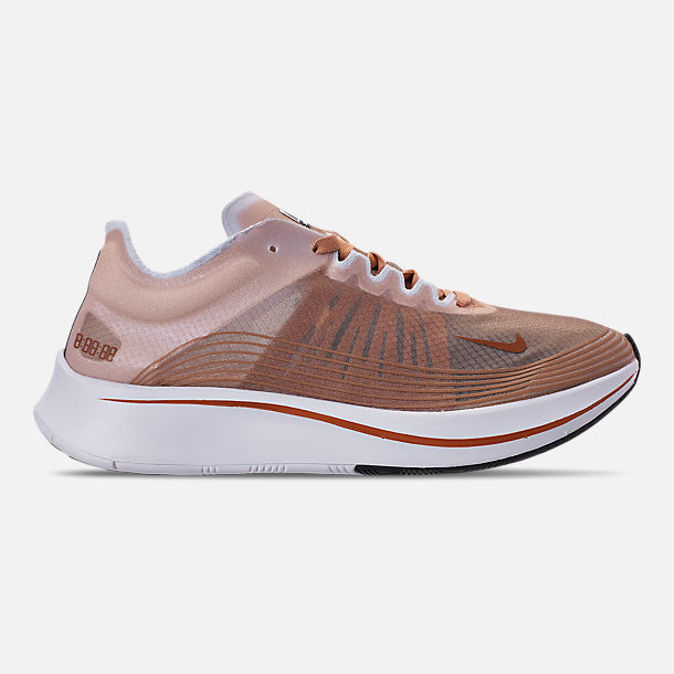 Right view of Women's Nike Zoom Fly SP Running Shoes in Dusty Peach/Guava Ice