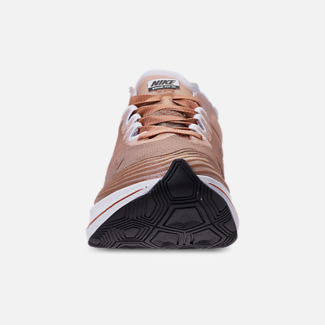 Front view of Women's Nike Zoom Fly SP Running Shoes in Dusty Peach/Guava Ice