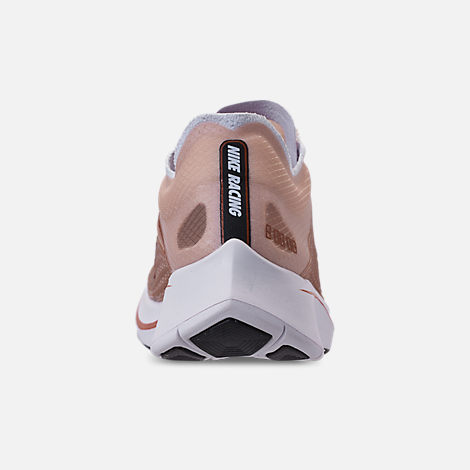 Back view of Women's Nike Zoom Fly SP Running Shoes in Dusty Peach/Guava Ice