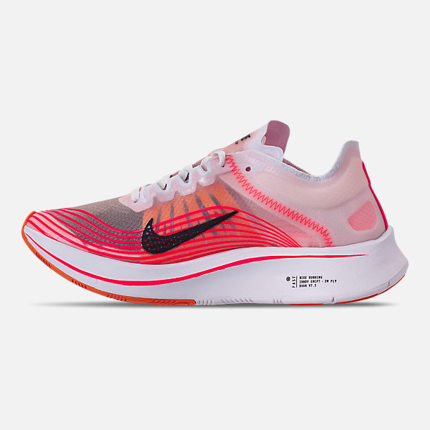Left view of Women's Nike Zoom Fly SP Running Shoes in Varsity Red/Black/Summit White