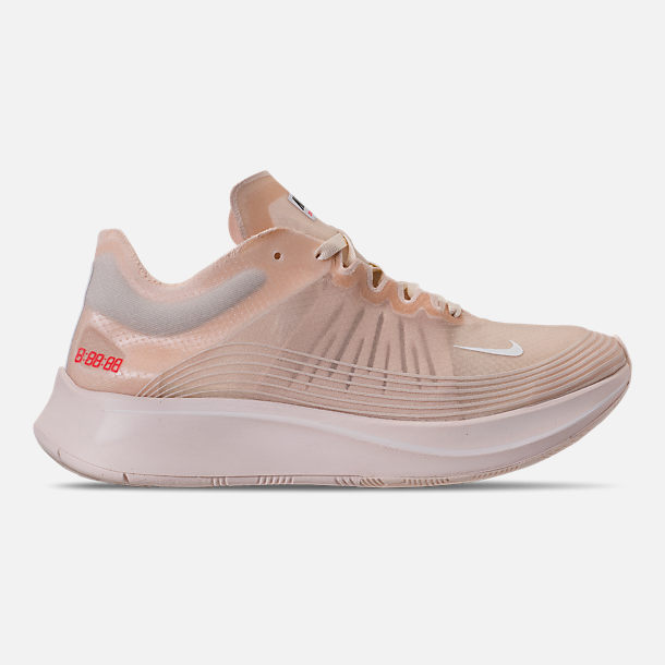 90f7535682524 Right view of Women s Nike Zoom Fly SP Running Shoes in Guava Ice White